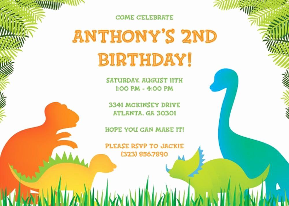 Invitation format for Birthday Party New 17 Dinosaur Birthday Invitations How to Sample Templates
