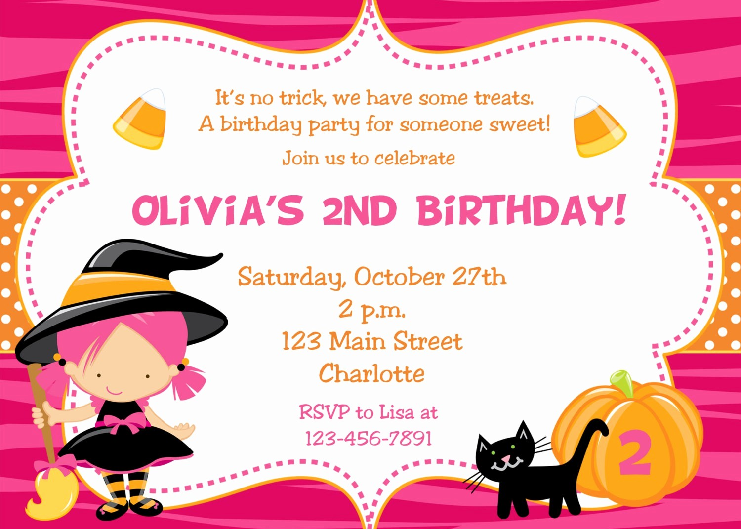Invitation format for Birthday Party New Halloween Birthday Party Invitations – Fun for Christmas