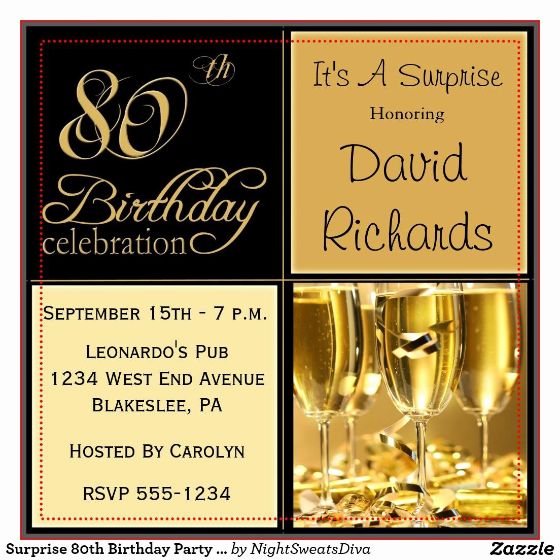 Invitation format for Birthday Party Unique 15 Sample 80th Birthday Invitations Templates Ideas