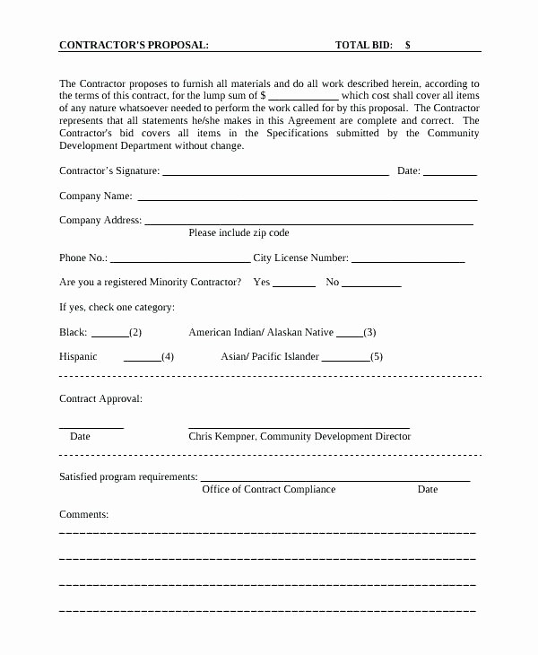 Invitation to Bid Template Construction Best Of Subcontractor Proposal Template – Modclothing