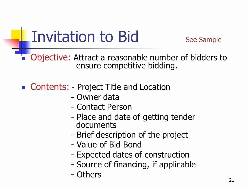 Invitation to Bid Template Construction Inspirational Construction Bid Request Template
