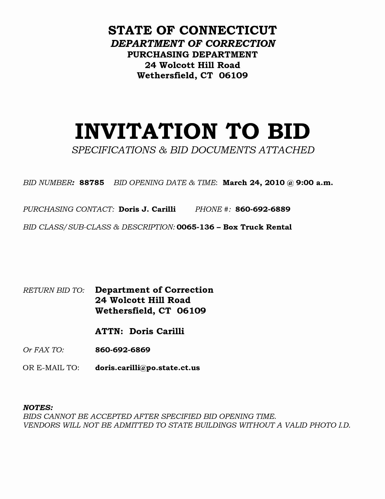 Invitation to Bid Template Construction Luxury Invitation to Bid Letter Template Examples