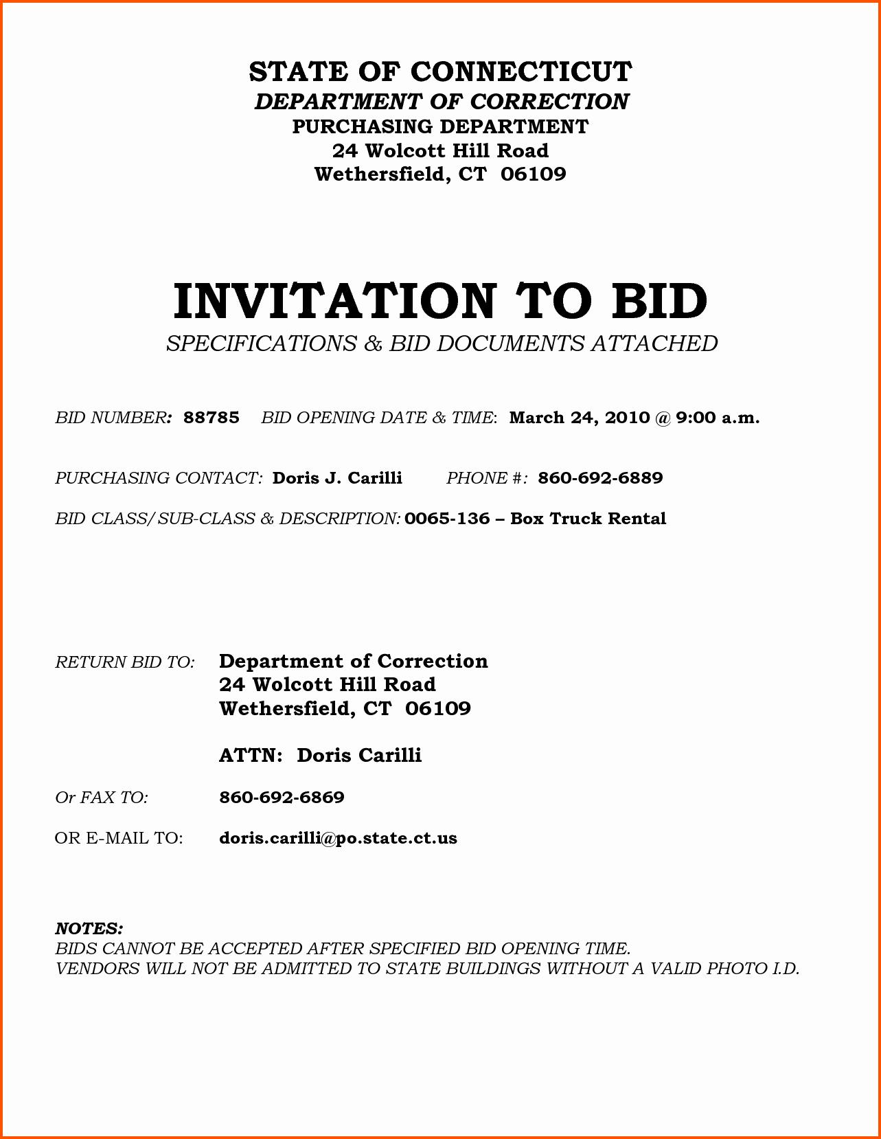 Invitation to Bid Template Construction New Invitation to Bid Construction Template Gallery Template