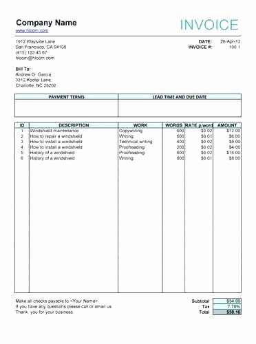 Invoice for Work Done Template Fresh Invoice Template for Work Done – Pranksmonkeyub