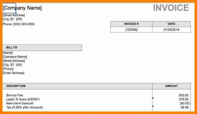 Invoice for Work Done Template New 8 Bill for Work Done Template