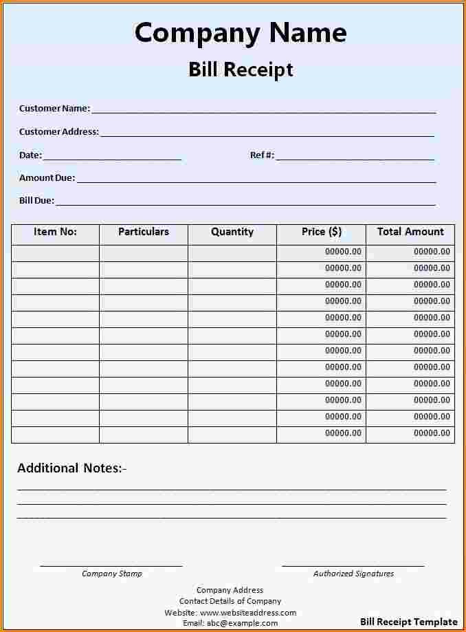 Invoice for Work Done Template Unique 7 Receipt for Work Done Template