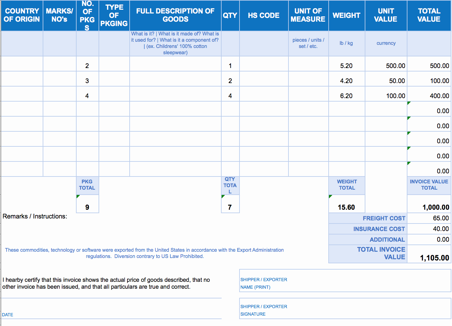 Invoice Template Excel Download Free Awesome Free Excel Invoice Templates Smartsheet