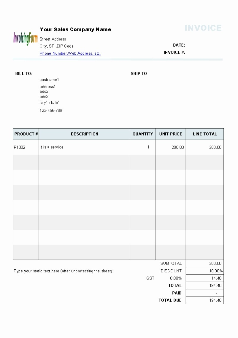Invoice Template Excel Download Free Beautiful Invoice Template Excel Australia Invoice Template Ideas