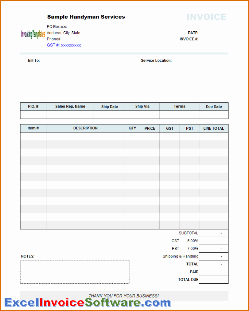 Invoice Template Excel Download Free Best Of 11 Able Invoice Template