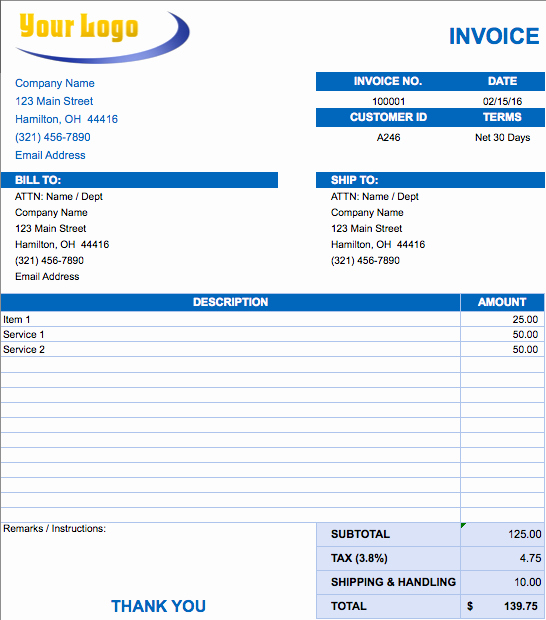 Invoice Template Excel Download Free Luxury Free Excel Invoice Templates Smartsheet