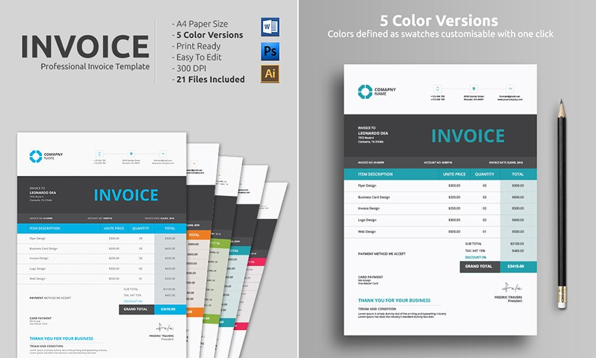 Invoice Template for Microsoft Word Beautiful 14 Simple Invoice Templates Made for Microsoft Word