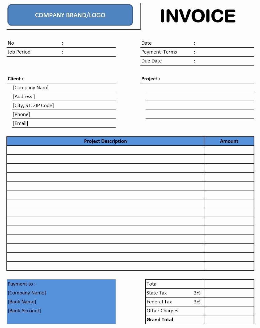 Invoice Template for Microsoft Word Best Of Invoice Templates