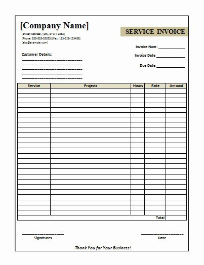 Invoice Template for Microsoft Word Elegant Download Invoice Template Word 2007