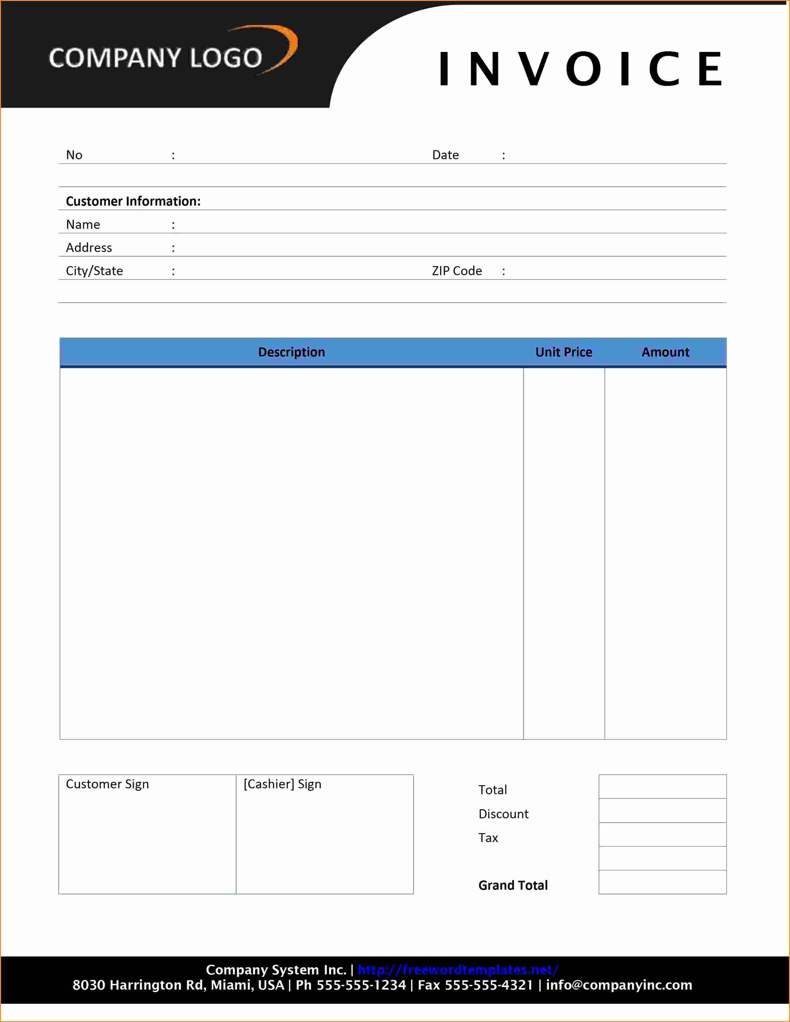 Invoice Template for Microsoft Word Inspirational 12 Invoice Template Microsoft Word