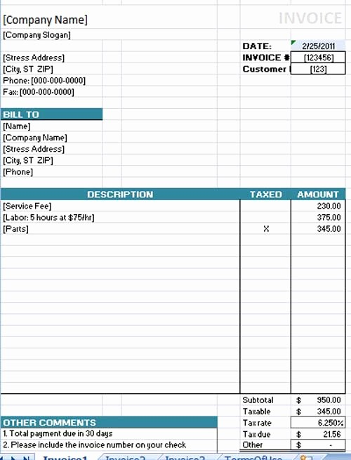Invoice Template for Microsoft Word New Free Invoice Template Cake Ideas and Designs