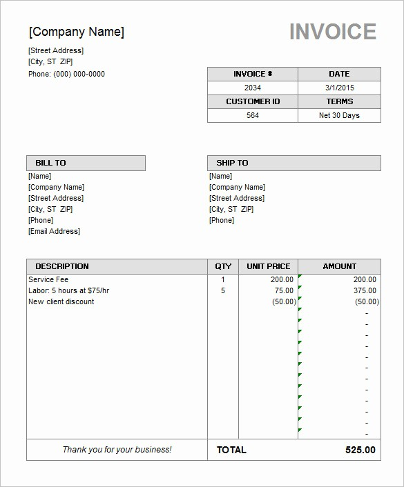 invoice template microsoft office microsoft invoice template 54 free word excel pdf free
