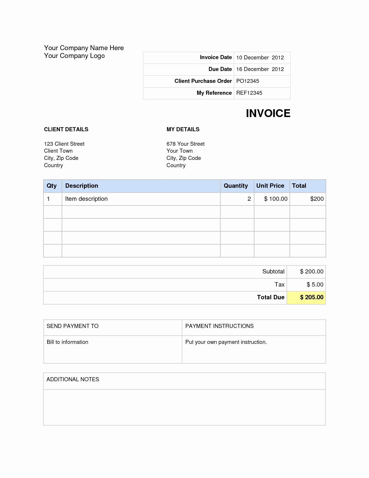 Invoice Template Word Download Free Beautiful Microsoft Word Invoice Template Free Download