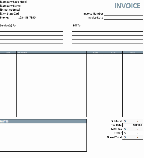Invoice Template Word Download Free Best Of top 5 Best Invoice Templates to Use for Business