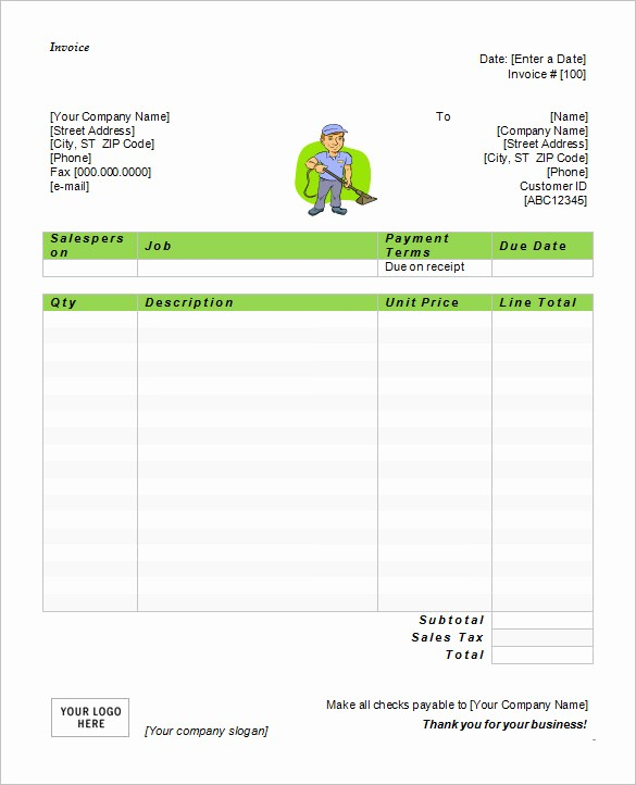 Invoice Template Word Download Free New 60 Microsoft Invoice Templates Pdf Doc Excel