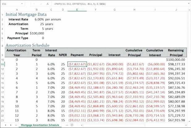 amortization table with extra payments