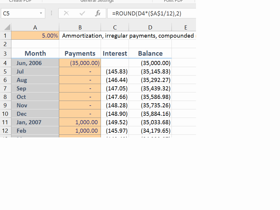 Irregular Loan Payment Calculator Excel Fresh Repayment How Do I Calculate Interest On A Personal Loan