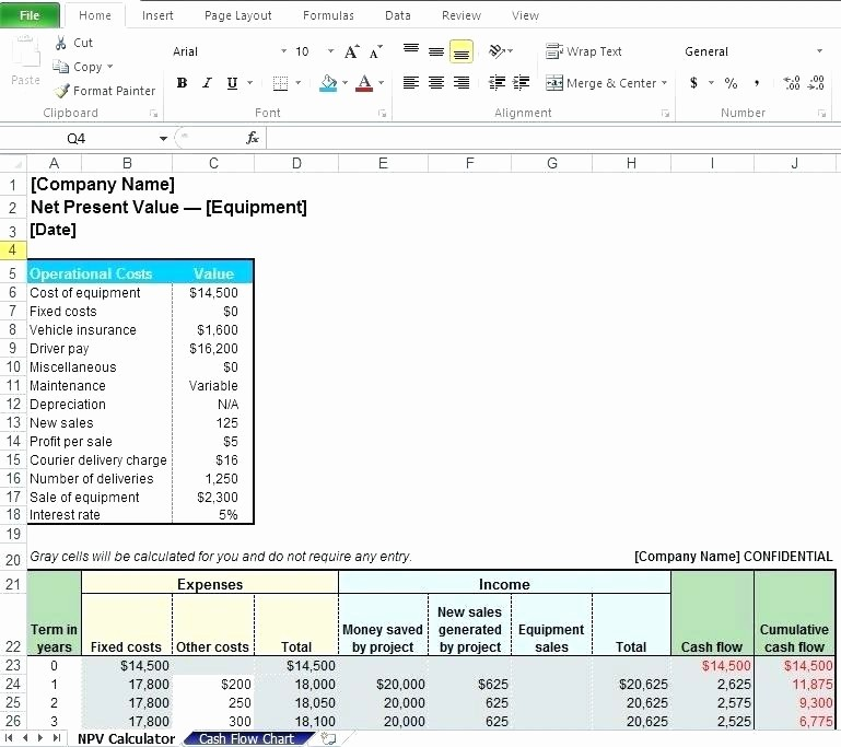 Irregular Loan Payment Calculator Excel Inspirational How to Calculate Net Cash Flow In Excel Project A B