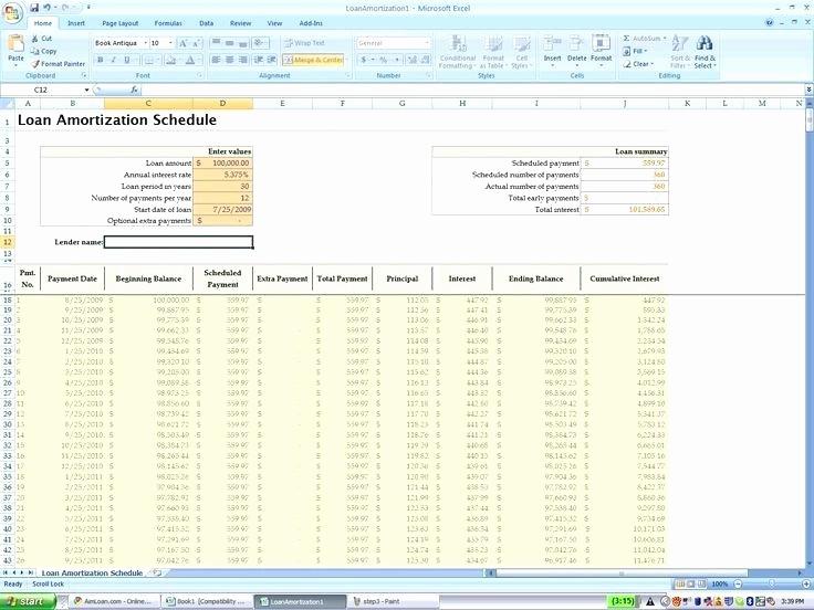 Irregular Loan Payment Calculator Excel New Microsoft Excel Amortization Template – Bad1ub