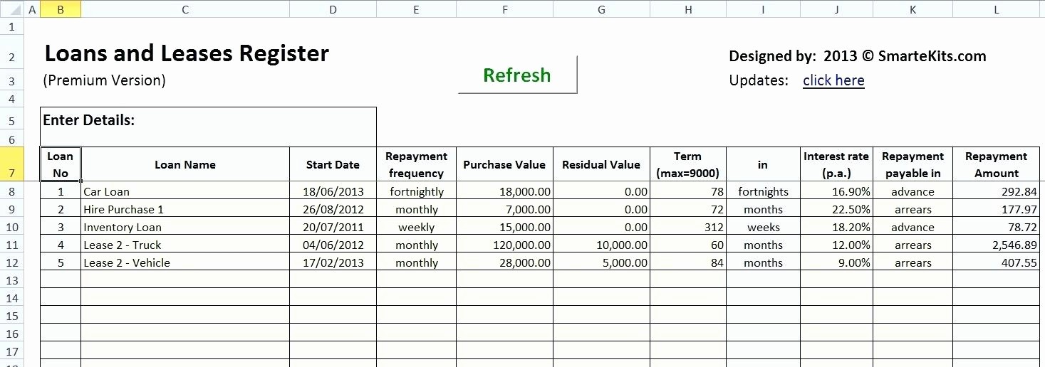 Irregular Loan Payment Calculator Excel Unique Excel Amortization Schedule Sheet 1 Data Entry Excel Loan