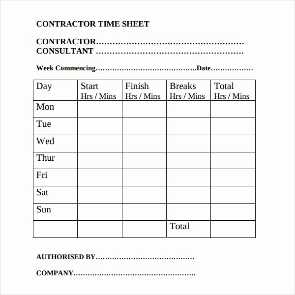 Is Time Sheet One Word Beautiful 17 Contractor Timesheet Templates – Docs Word Pages