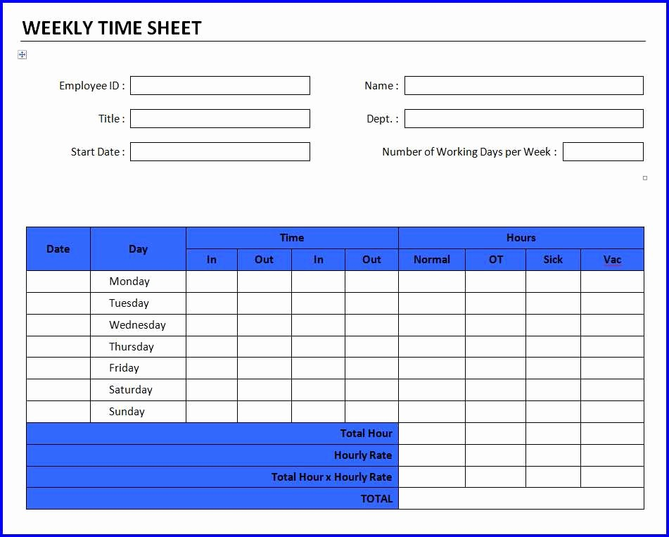 Is Time Sheet One Word Elegant Weekly Timesheet Template Word Driverlayer Search Engine