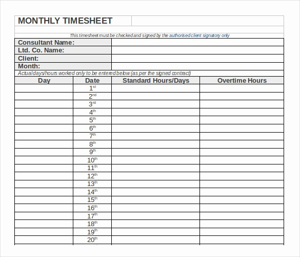 Is Time Sheet One Word Luxury Free Printable Monthly Time Sheets Monthly Timesheet
