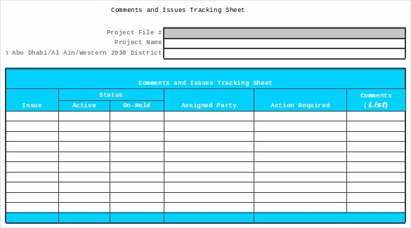 Issues List Template Excel Free Awesome 9 issue Tracking Templates Free Sample Example format