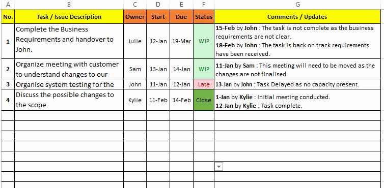 Issues List Template Excel Free Awesome Task Management Excel Template Download Free