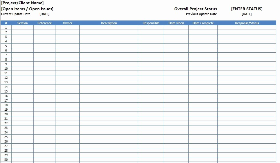 Issues List Template Excel Free Inspirational issue List Template Excel – thedl