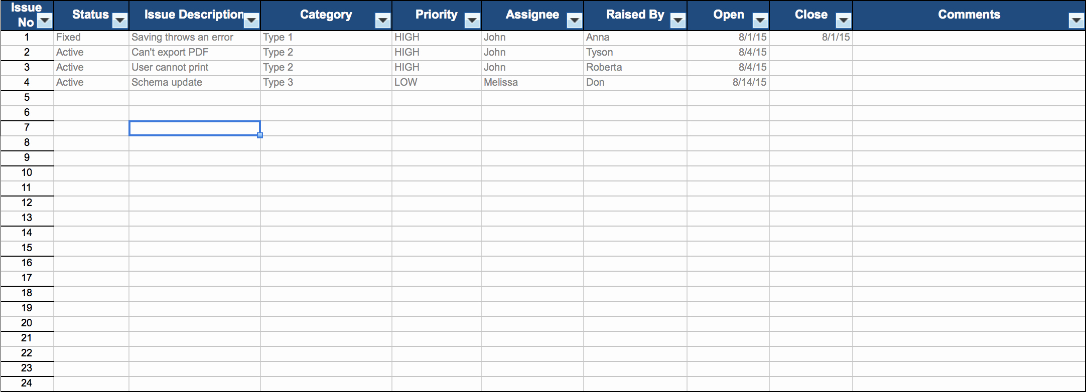 Issues List Template Excel Free Lovely Free Excel Project Management Templates