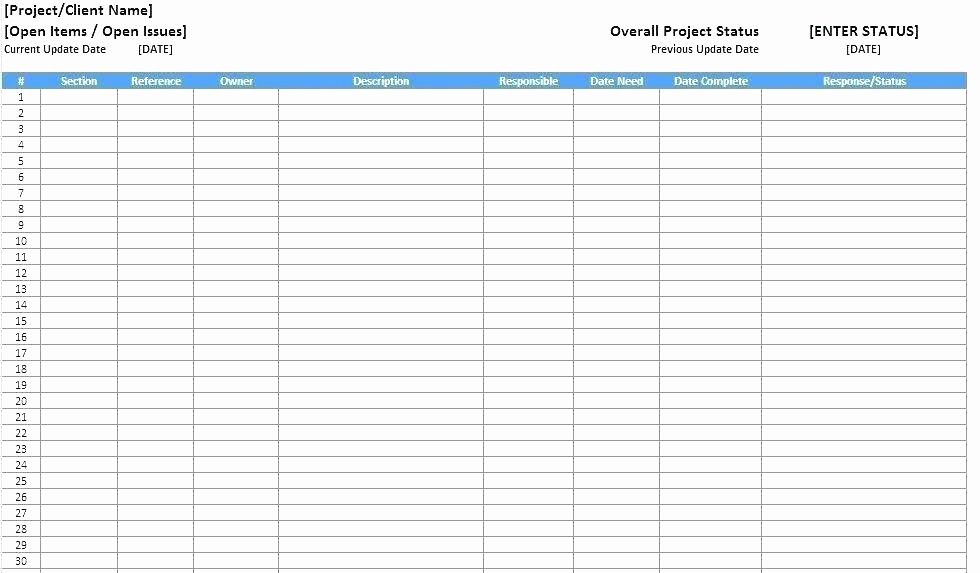 Issues List Template Excel Free Lovely issues Log Sheet Risk Management Template issue Risk