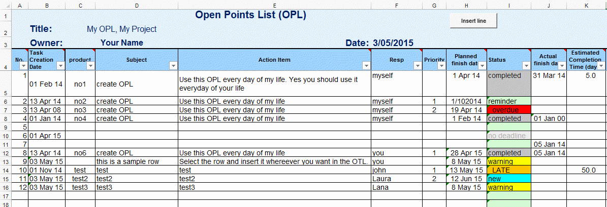 Issues List Template Excel Free Luxury Excel Template to Do List or Task List Template for Excel