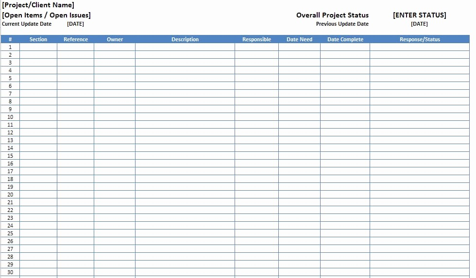 Issues List Template Excel Free Luxury top 5 Resources to Get Free Project Log Templates Word