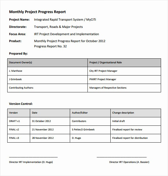 It Project Status Report Template Awesome 14 Sample Project Status Reports – Pdf Word Pages