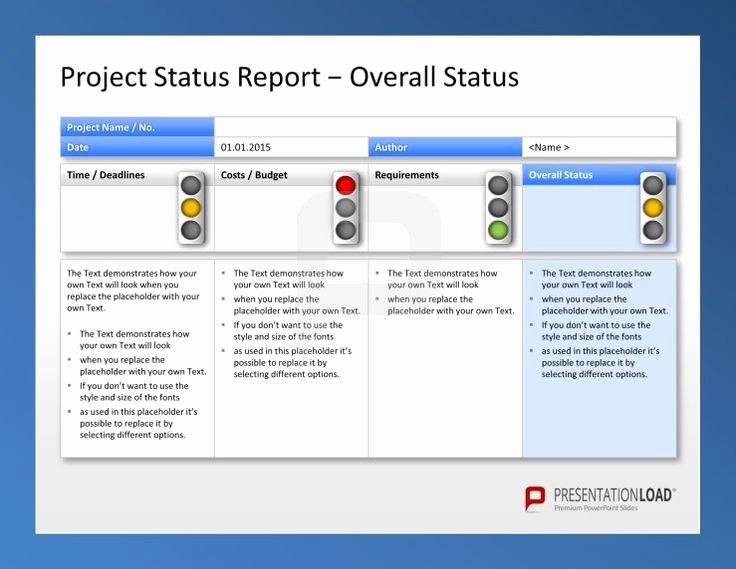It Project Status Report Template Awesome Create Weekly Project Status Report Template Excel