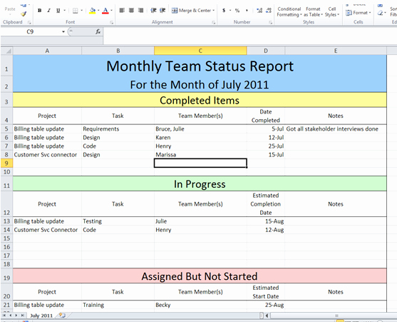 It Project Status Report Template Lovely Get Project Status Report Template Excel – Exceltemple