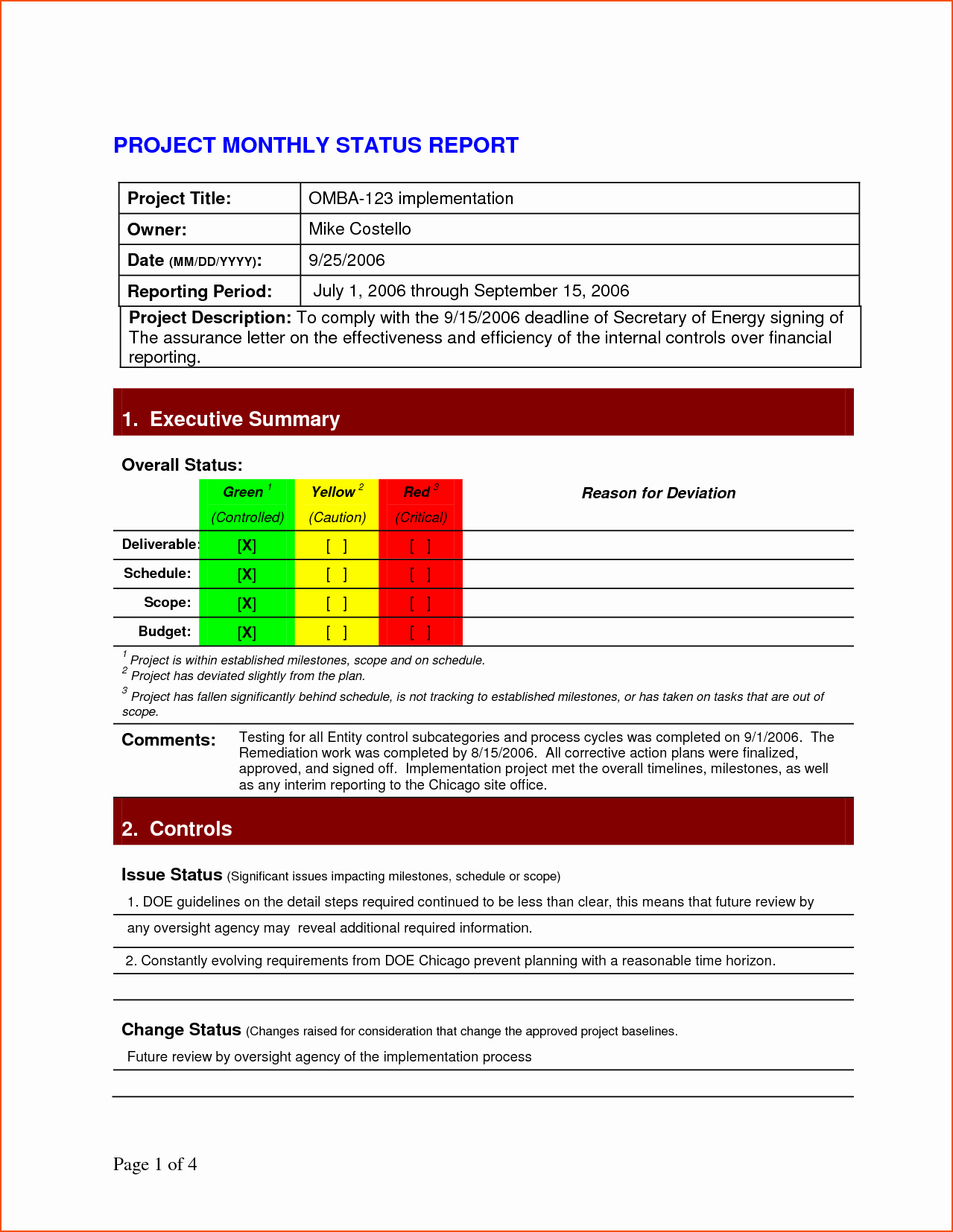 It Project Status Report Template Luxury 7 Project Status Report Template Bookletemplate