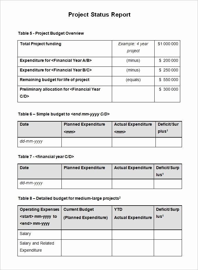 It Project Status Report Template Unique Project Status Report Templates Writing Word Excel format