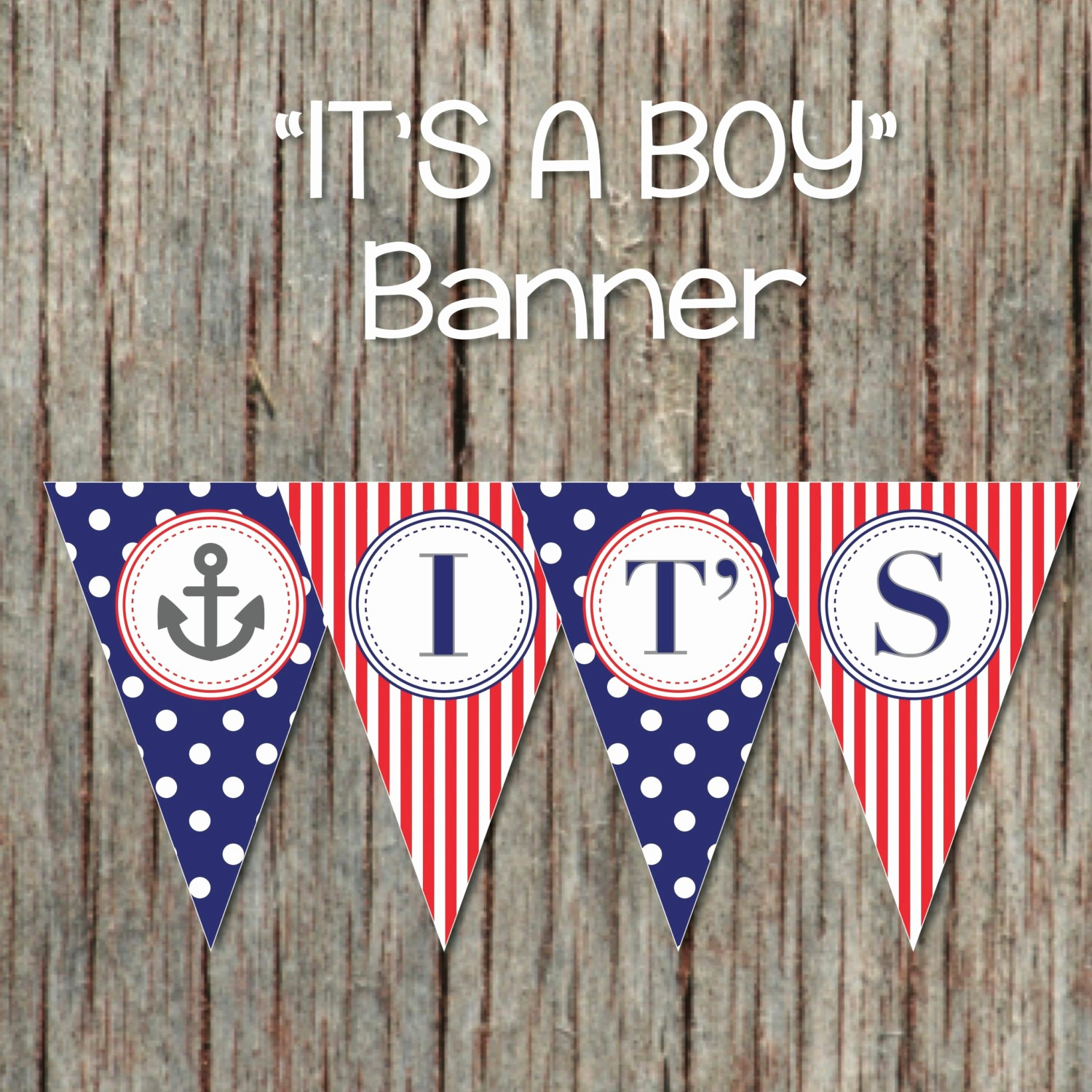 It's A Boy Banner Printable Awesome It S A Boy Printable Nautical Baby