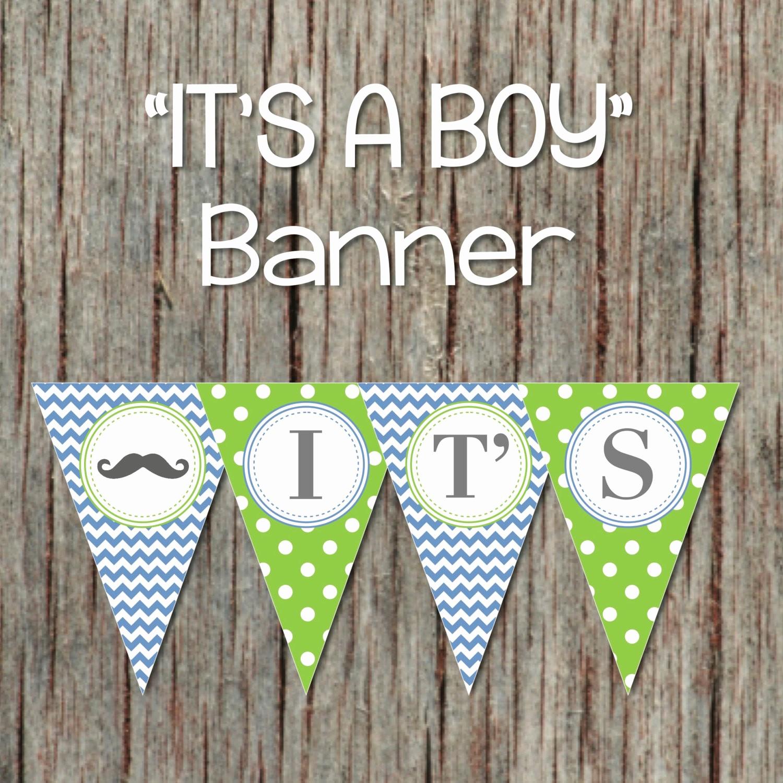 It's A Boy Banner Printable Beautiful It S A Boy Banner Mustache Little Man
