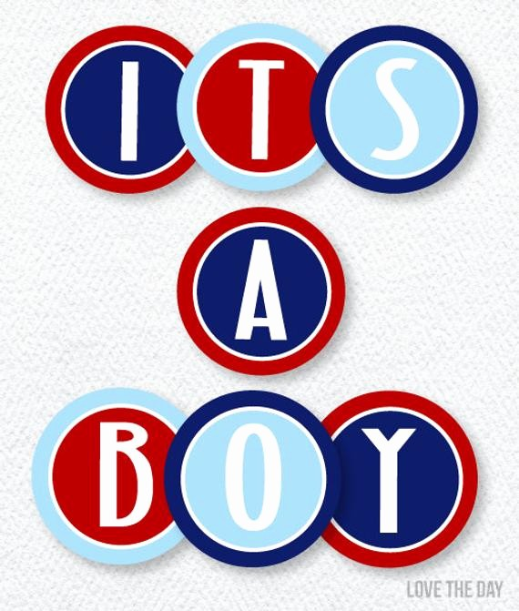 It's A Boy Banner Printable Beautiful Items Similar to Nautical Baby Shower Printable It S A Boy