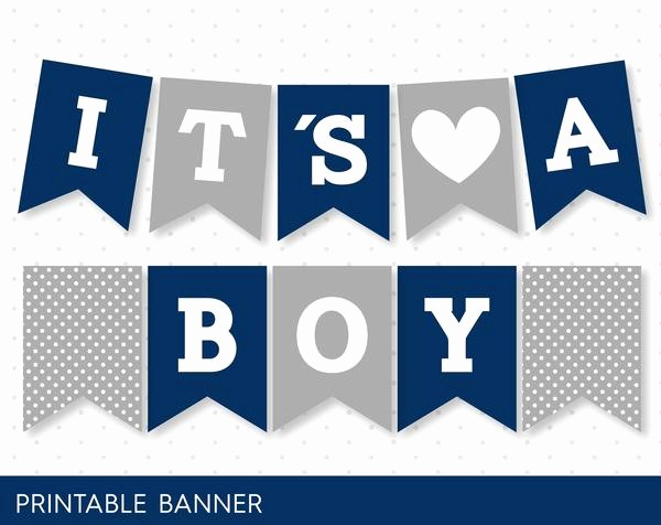 It's A Boy Banner Printable Beautiful Navy Blue Banner Grey Banner Oh Baby Banner Oh Boy