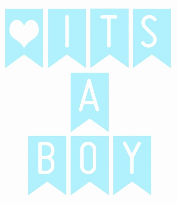 It's A Boy Banner Printable Beautiful Printable Its A Boy Banner Printable 360 Degree
