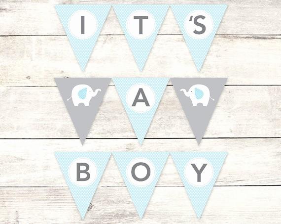 It's A Boy Banner Printable Elegant It S A Boy Banner Baby Shower Printable Diy Bunting Banner