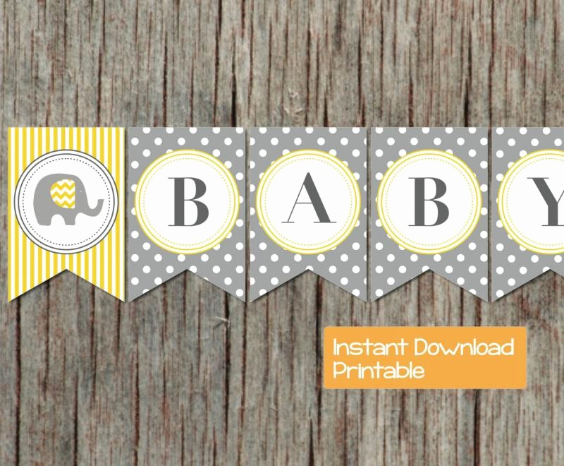 It's A Boy Banner Printable Fresh Printable Baby Shower Banner Grey